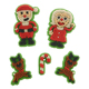Santa and Reindeer Icing Decorations