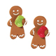 Gingerbread Man w/ Gumdrop Royal Icing Decorations