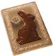 Gold Rabbit Jewel Candy Box with Clear Lid