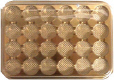 24 Cavity Gold Jewel Candy Box with Clear Lid