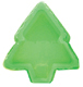 1/4 lb. Green Christmas Tree Candy Box with Clear Lid