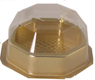 1 Pc. Gold Candy Box with Clear Beveled Lid