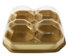 4 Pc. Gold Candy Box with Clear Beveled Lid