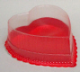 1/2 lb. Red Heart Deep Candy Box with Clear Lid