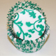 Teal Green Ivy Standard Baking Cups