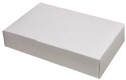2 lb. White 2-Layer Candy Box