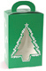 1 lb. Green Christmas Tree Tote Candy Box with Window