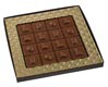 Square Gold Insert Candy Box with Clear Lid