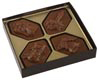 4 Cavity Gold Insert Candy Box with Clear Lid