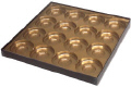 16 Cavity Gold Insert Candy Box with Clear Lid