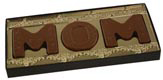 """MOM"" Gold Insert Candy Box with Clear Lid"