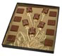Rosebuds & Squares Gold Insert Candy Box with Clear Lid