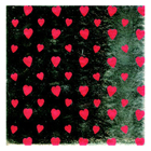 "6 x 6"" Foil Wrapper Heart Print"