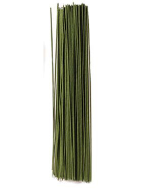"""30 Gauge Green 12"""" Covered Wire"""
