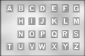 Alphabet Capitals on Squares Chocolate Candy Mold