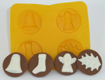 Christmas Asst. Flexible Rubber Candy Mold