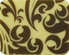 Chocolate Transfer Sheet- Callig. Scroll Brown