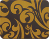 Chocolate Transfer Sheet - Callig. Scroll Gold