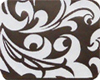 Chocolate Transfer Sheet - Callig. Scroll White