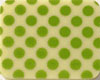 Chocolate Transfer Sheet - Lime Green Dots