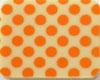 Chocolate Transfer Sheet - Orange Dots
