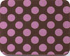 Chocolate Transfer Sheet - Pink Dots