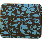Chocolate Transfer Sheet - Blue Floral Scroll