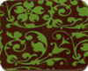 Chocolate Transfer Sheet - Green Floral Scroll