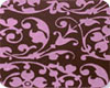 Chocolate Transfer Sheet - Pink Floral Scroll