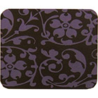 Chocolate Transfer Sheet - Purple Floral Scroll