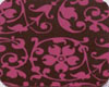 Chocolate Transfer Sheet - Raspberry Floral Scroll