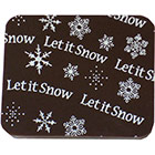 Chocolate Transfer Sheet - Let It Snow