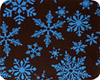 Chocolate Transfer Sheet - Light Blue Snowflake