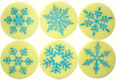 Chocolate Transfer Sheet - Snowflake Light Blue