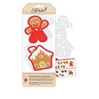 Gingerbread Cookie Cutter Stencil Set by Sweet Sugarbelle