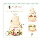 Tiered Rose Gold Cake Stand Set