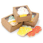 Gold Dot Kraft Cookie Box with Window