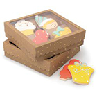 Large Gold Dot Kraft Cookie Box with Window