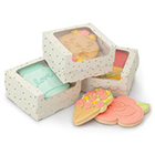 Gold Dot White Cookie Box with Window