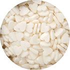 White Hearts Confetti Sprinkles
