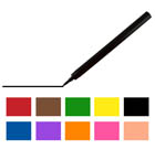 Assorted AmeriColor Food Color Pens (10 Colors) (Old # 34-6010)