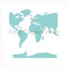 World Map Cookie Stencil