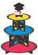 Round Graduation Cupcake Stand