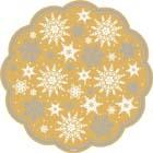 Kraft Snowflake Paper Doilies