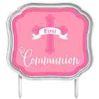 Pink First Communion Cake Pick
