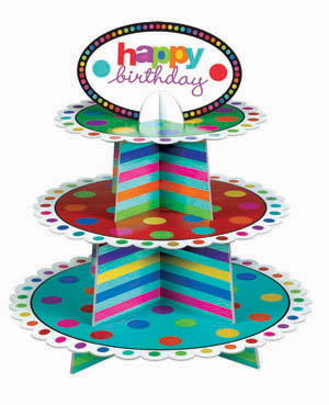 Happy Birthday Cupcake Stand (Holds 24)