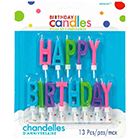 Brights Happy Birthday Candle Set
