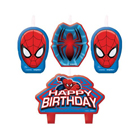 Spiderman Birthday Candle Set