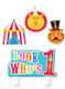 Circus 1st Birthday Candle Set