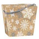 5 lb. Kraft Snowflake Take Out Treat Box